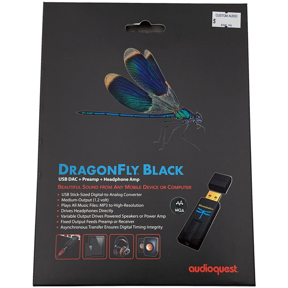 AudioQuest DragonFly Black USB DAC+Preamp+Headphone Amp