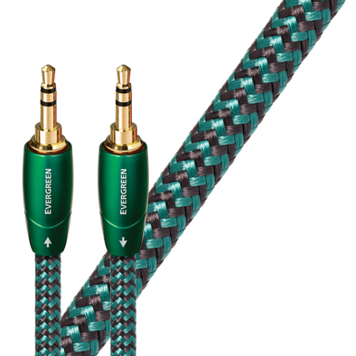 Audioquest EverGreen 3.5mm to 3.5mm Audio Interconnect 1 Meter Cable
