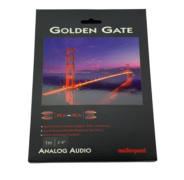 audioquest goldengate analog interconnect rca cable