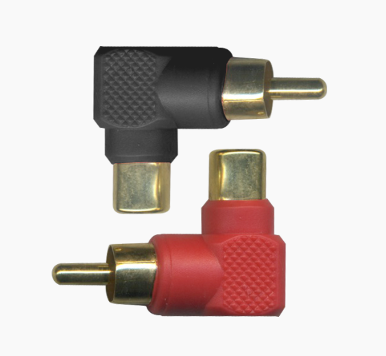 stinger sgi22 right angle male to female rca adaptor