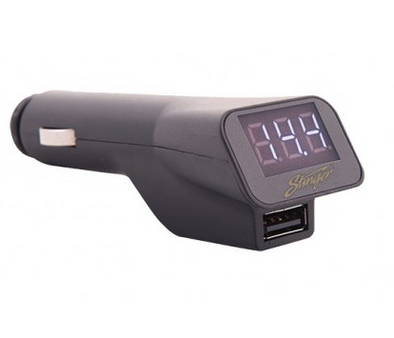 stinger sgp12 12 volt socket with ues and voltage display stinger volt meter