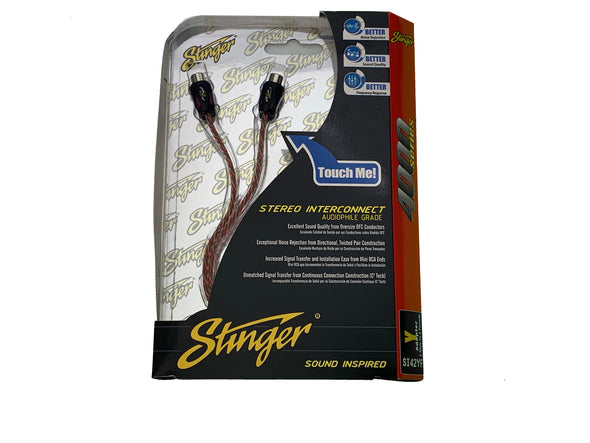 stinger si42yf y adapter rca 1 male to 2 female
