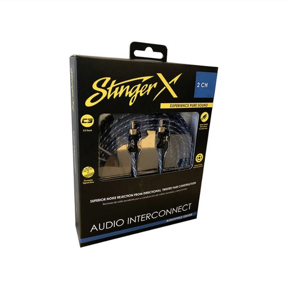 stinger x 2 channel audiophile grade audio interconnect x1 series