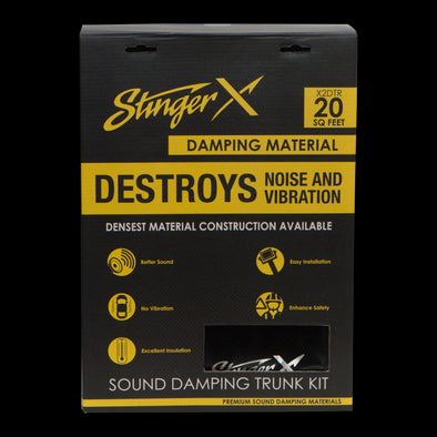 stinger x universal sound damping kit x2dtr 20 square feet