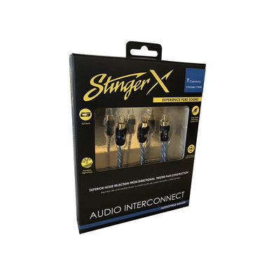 stinger x y-connector 2 female- 1 male audiophile grade audio interconnect x1 series