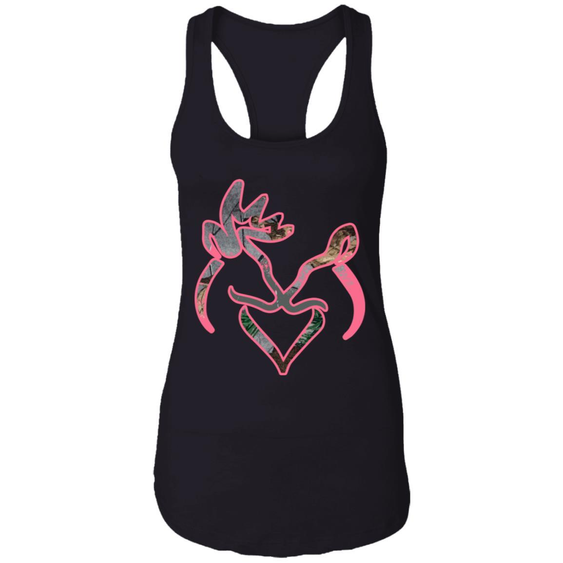 T-Shirts - Buck Doe Ladies Racerback Tank