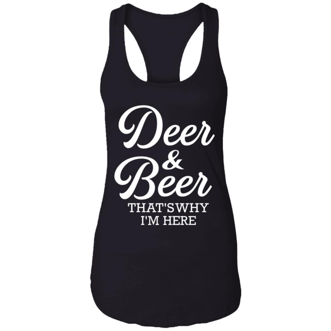 T-Shirts - Deer & Beer Ladies Racerback Tank
