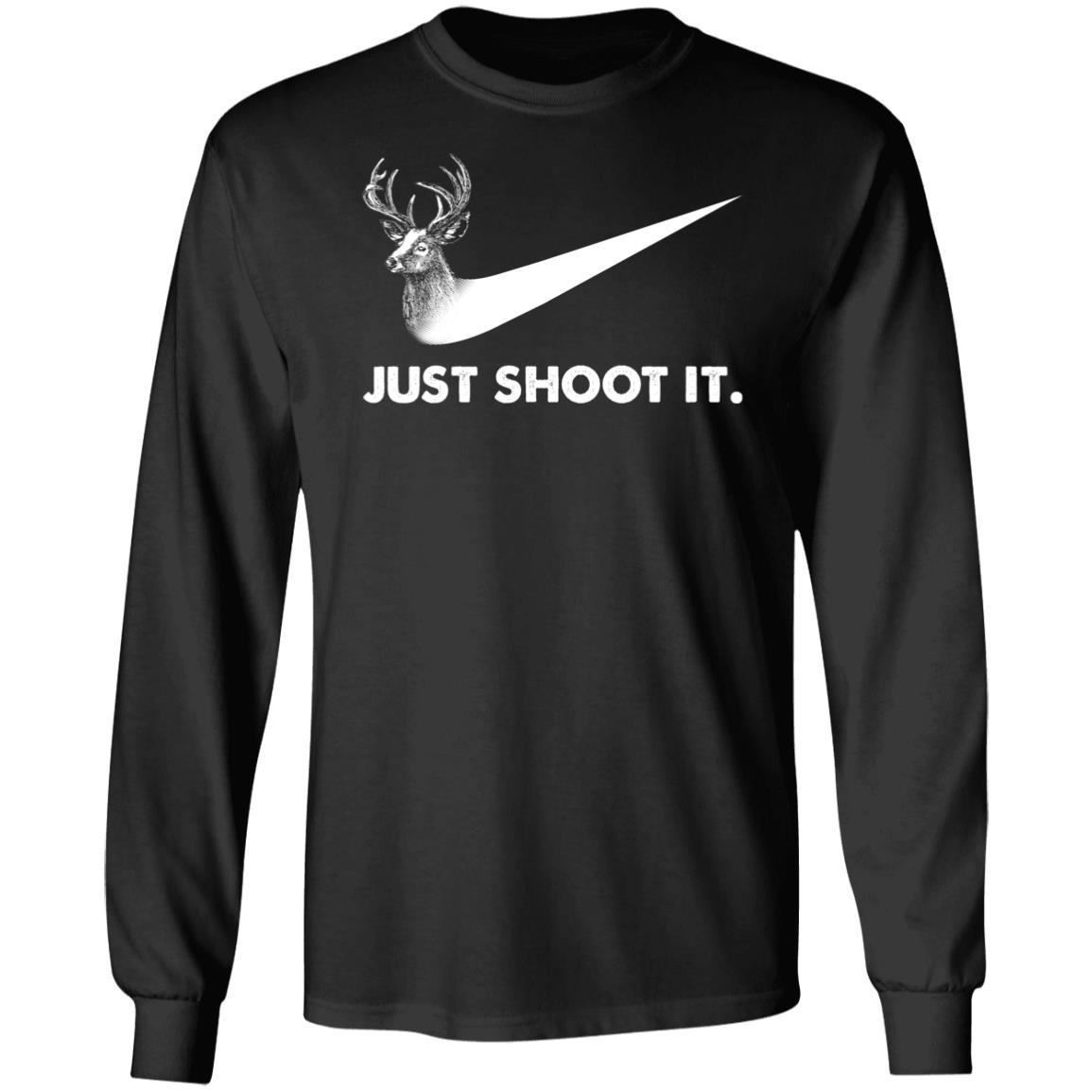 T-Shirts - Just Shoot It Unisex LS T-Shirt