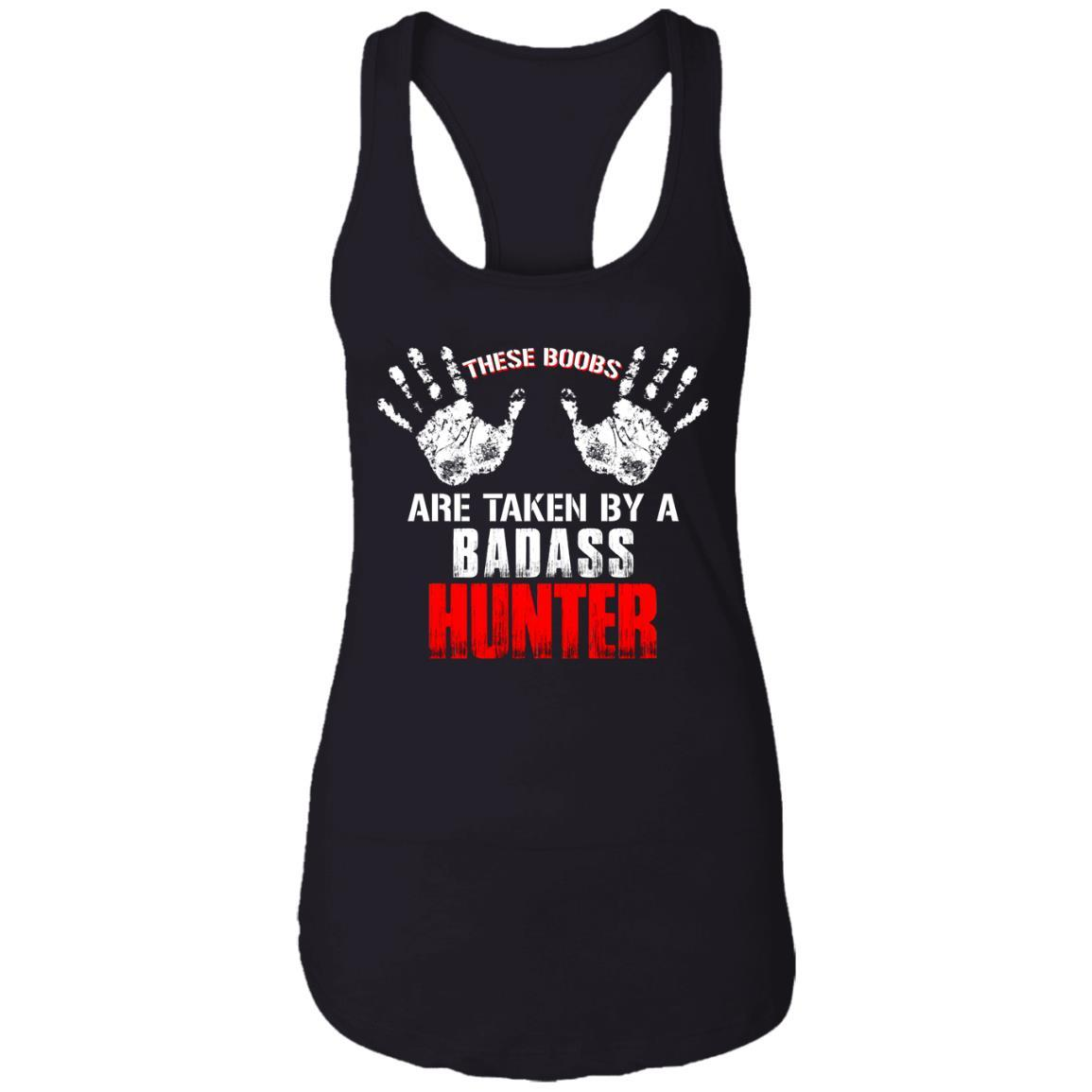 T-Shirts - Taken Badass Hunter Ladies Racerback Tank