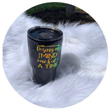 "Load image into Gallery viewer, ""Losing My Mind One Kid at A Time"" - 30 oz Hogg Brand Stainless Steel Tumbler - Handmade with Glitter ."