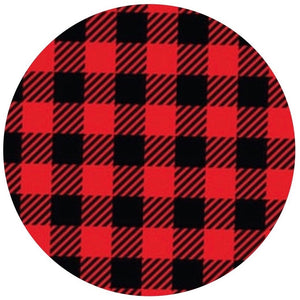Buffalo Plaid(Bright Red)- Patterned Permanent Adhesive