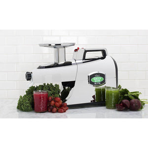 Green Star Elite Twin Gear Juicer Chrome Produce