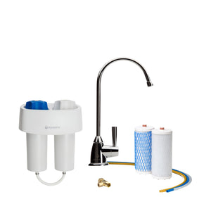 Aquasana Under Counter Water Filter Premium - Chrome