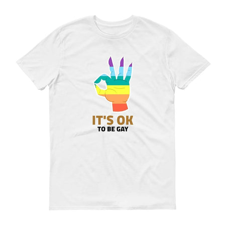 Gay Pride T-Shirt - It's Ok To Be Gay