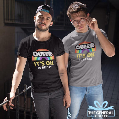 Gay Pride T-Shirt - Queer It's Ok To Be Gay