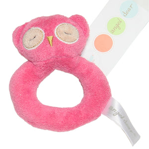 Angel Dear - Ring Rattle - Hot Pink Owl