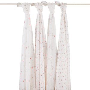 Aden and Anais - Classic Muslin Swaddle 4 Pack - Make Believe