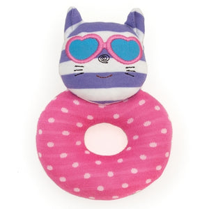 Apple Park - Farm Buddies Catnap Kitty Teething Rattle