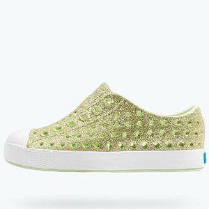 Native Shoes - Jefferson Bling - Cucumber Bling-Shell White