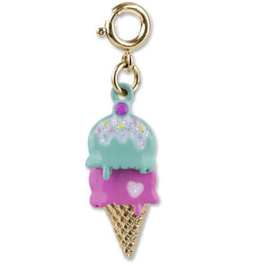 CHARM IT! - Gold Swivel Ice Cream Cone Charm