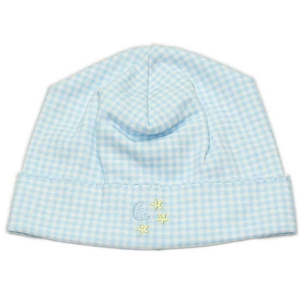 Kissy Kissy - Homeward Gingham Hat - Moon and Stars