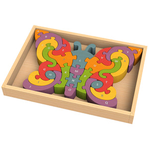 BeginAgain Toys - Butter?y A to Z Puzzle