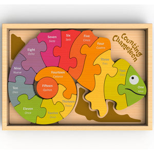 BeginAgain Toys - Counting Chameleon Puzzle