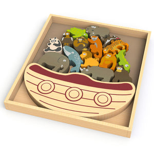 BeginAgain Toys - Balance Boat - Endangered Animals