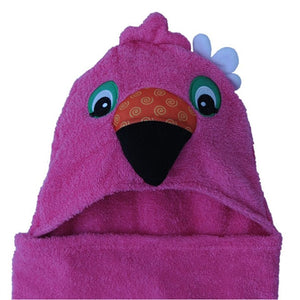 Zoocchini - Kids Hooded Towel - Franny the Flamingo