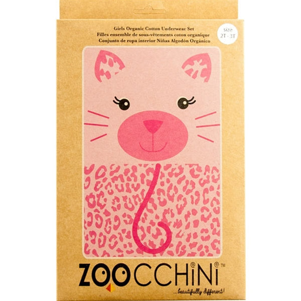 Zoocchini - Girls Organic Cami Panty 2 Piece Set - Kitty
