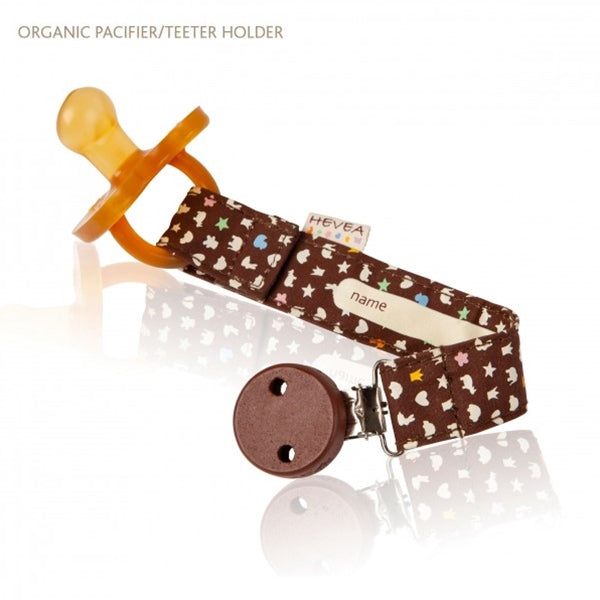 Hevea - Pacifier Holder - Organic Cotton - Brown