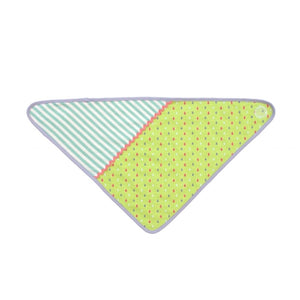 Apple Park -  Farm Buddies Green Tear Drops Bandanna Bib