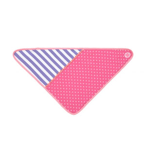 Apple Park -  Farm Buddies Pink Polka Dots Bandanna Bib