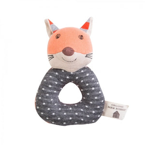 Apple Park -  Farm Buddies Frenchy Fox Teething Rattle