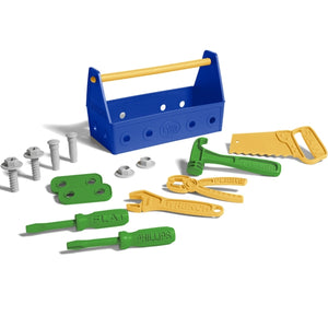 Green Toys - Tool Set - Blue - 14 pieces
