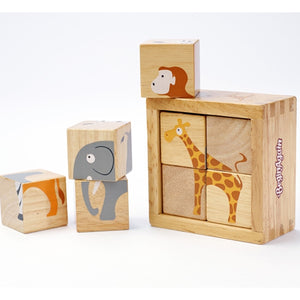 Beginagain Toys - Buddy Blocks  Safari Animals