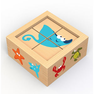 Beginagain Toys - Buddy Blocks  Sealife