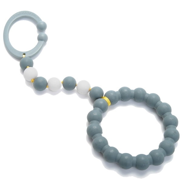 Chewbeads - Baby Gramercy Teething Stroller Toy - Stormy Grey