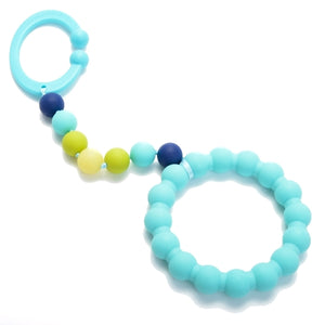 Chewbeads - Baby Gramercy Teething Stroller Toy - Turquoise