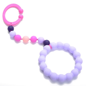 Chewbeads - Baby Gramercy Teething Stroller Toy - Violet