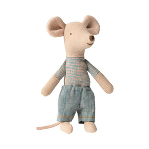 Maileg - Little Brother Mouse in Matchbox - Blue Pants