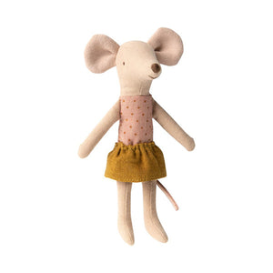 Maileg - Big Sister Mouse in Matchbox - Gold Skirt