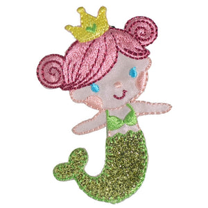 No Slippy Hair Clippy - Fiona Lime Glittery Mermaid Pinch Clip