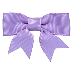 No Slippy Hair Clippy - Emily  Lavender 2 Inch Grosgrain Baby Bow Pinch Clip