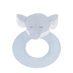 Angel Dear - Ring Rattle - Blue Elephant