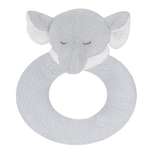 Angel Dear - Ring Rattle - Grey Elephant