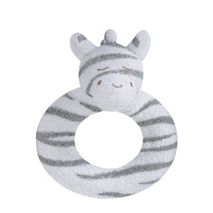 Angel Dear - Ring Rattle - Grey Zebra