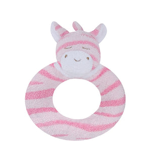 Angel Dear - Ring Rattle - Pink Zebra