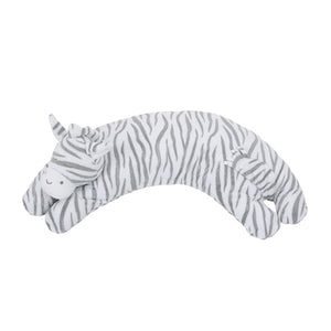 Angel Dear - Curved Pillow - Grey Zebra