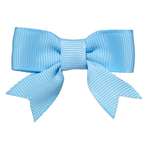 No Slippy Hair Clippy - Emily Light Blue 2 Inch Grosgrain Baby Bow Pinch Clip